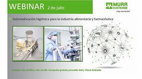 Foto de Murrelektronik organiza un webinar sobre automatización higiénica en las industrias alimentaria y farmacéutica