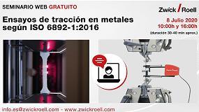 Foto de ZwickRoell explica los ensayos más comunes en metales según ISO 6892-1:2016 en un nuevo webinar