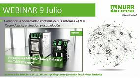 Foto de Murrelektronik organiza un webinar sobre operatividad continua en sistemas 24 V DC