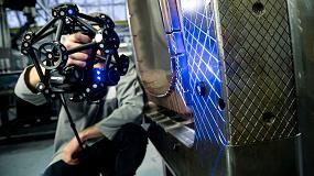 Foto de MetraSCAN BLACK de Creaform es el escáner 3D ideal para exigentes tareas de control de calidad en taller