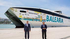 Foto de Promoción en ferry de nuestros aceite de oliva