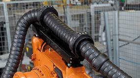 Foto de Guiamento fiável de cabos elétricos em robôs com o sistema de retração low-cost da igus