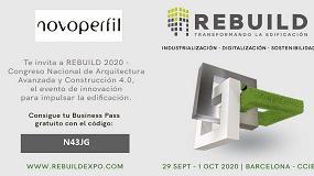 Foto de ¡Aprovecha la invitación de NOVOPERFIL para visitar REBUILD!