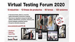 Foto de ZwickRoell organiza Virtual Testing Forum, el primer evento en el ámbito del ensayo de materiales y componentes 100% virtual y gratuito
