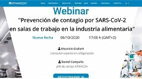 """Foto de Intarcon impartirá un webinar sobre """"Prevención de contagio por SARS-CoV-2 en salas de trabajo en la industria alimentaria"""""""