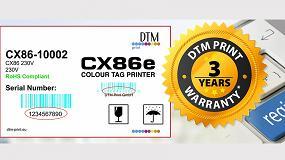 Foto de DTM Print ofrece una garantía de 3 años para su división de impresoras de etiquetas y editoras de discos