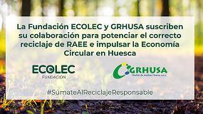 Foto de Fundación Ecolec y Grhusa renuevan su colaboración para gestionar correctamente los RAEE en la provincia de Huesca