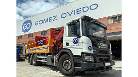 Foto de Gomez Oviedo incorpora dos camiones Scania con grúa Fassi a su flota de vehículos