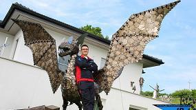 Foto de Para la aspiración de los humos el soldador de arte Jürgen Pendl confía en el equipo 'filtoo'