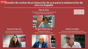 Foto de Webinar sobre costes de producción de uva para la elaboración de vino en España
