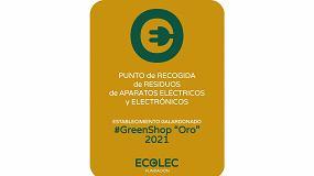 Foto de Ecolec reconocerá el compromiso de 75 establecimientos #GreenShop de toda España con los distintivos Oro y Plata
