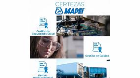 Foto de Certezas de Mapei en torno a la calidad, seguridad, salud y el medioambiente