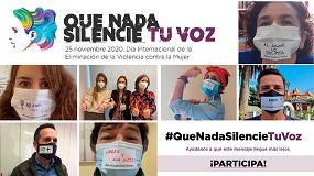 Foto de La Fundación Laboral de la Construcción lanza la campaña #QueNadaSilencieTuVoz, con motivo del Día Internacional de la Eliminación de la Violencia contra la Mujer
