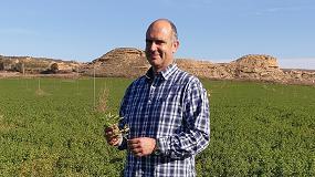 Foto de Robert Jaimejuan, el agricultor leridano que tiene como reto defender la calidad y sostenibilidad de la alfalfa europea