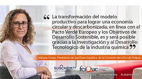 Foto de Adriana Orejas, nueva presidenta de SusChem España y de la Comisión de Innovación de Feique