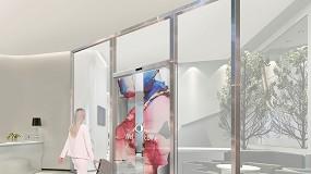 Foto de LG e ASSA desenvolvem porta automática com OLED transparente