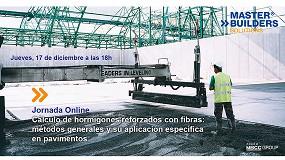 Foto de Jornada Técnica Online sobre 'Cálculo de hormigones reforzados con fibras: métodos generales y su aplicación específica en pavimentos'