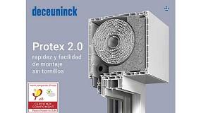 Foto de Deceuninck presena Protex 2.0, cajón de persiana con certificación Passivhaus