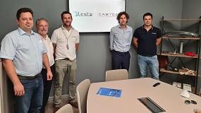 Foto de Lesta y Cabycal firman un acuerdo para distribución de los robots de pintura italianos en España