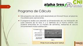 Foto de CNI presenta el Programa de Cálculo de Suelo Radiante según UNE EN 1264
