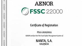 Foto de Nanta es el primer fabricante de piensos que obtiene la certificación de seguridad alimentaria FSSC 22000