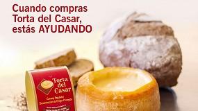Foto de Iniciativa solidaria de la DOP Torta del Casar con una donación económica al Banco de Alimentos