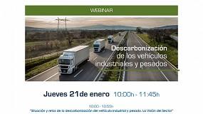 Foto de Webinar de ANFAC: La descarbonización del vehículo industrial y el transporte pesado