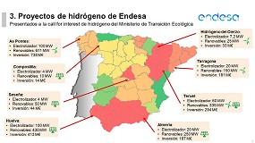 Foto de Endesa prevé invertir en España 2.900 millones de euros en 23 proyectos de hidrógeno verde