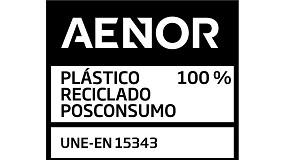 Foto de Aenor certifica el contenido 100% de plástico reciclado rPET en las botellas de Aguas Danone