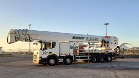 Foto de Grúas y Transportes Bony elige a Palfinger con la plataforma P 900 Clase Top