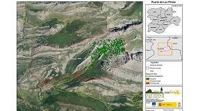 Foto de Dispositivos GPS para analizar los movimientos de un rebaño de ovejas trashumantes en zona de montaña