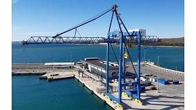 Foto de Entra en servicio la nueva grúa de contenedores Liebherr STS en la Terminal Marítima del Sureste, en el Puerto de Alicante