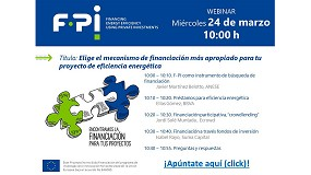 Foto de El proyecto F-PI organiza el webinar 'Elige el mecanismo de financiación más apropiado para tu proyecto de eficiencia energética'