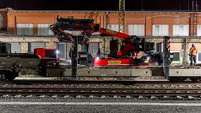 Foto de La grúa sobre orugas Palfinger PCC 71.002 deslumbra en un trabajo ferroviario de Leipzig