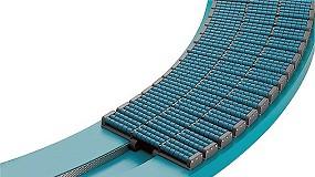 Foto de Curvas do transportador de corrente: em material termoplástico (Polietileno-UHMW) de altíssimo peso molecular (ficha de produto)
