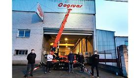 Foto de Transgrúas entrega una minigrúa Jekko SPX532 a la empresa asturiana Cristalería D'spejo