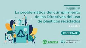 Foto de El CEP presenta un webinar sobre el uso de plásticos reciclados con Anarpla