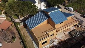 Foto de Swisspacer y sus intercalarios 'warm edge' en una casa biopasiva de madera en Moralzarzal (Madrid)
