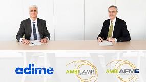 Foto de Adime y Ambilamp-Ambiafme firman un acuerdo para la incorporación de la distribución al marketplace social Ambiplace
