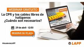 Foto de Lapp organiza un webinar sobre la CPR y los cables libres de halógenos