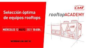 Foto de Ciat organiza un webinar sobre la elección óptima de equipos Rooftop