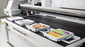 Foto de La impresión de camisetas en modo producción