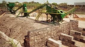 Foto de Planta Tecymacan de tratamiento de granito duro descompuesto en Uruguay