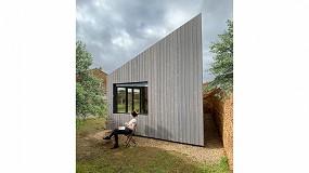 Foto de Lunawood Pre-Greyed de Gabarró, elegido por Malmö Ingenieros para su prototipo de 'refugios' de madera