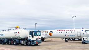 Foto de Avikor y Air Nostrum colaboran para que el Valencia CF vuele con combustible sostenible