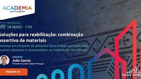 """Foto de Academia Saint-Gobain promove webinar sobre """"soluções para reabilitação: combinação assertiva de materiais"""""""