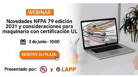 Foto de Lapp explica en un webinar las novedades NFPA 79 edición 2021
