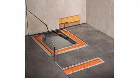 Foto de Construcción de platos de ducha a nivel de suelo con máxima flexibilidad con Schlüter-Kerdi-Line-Vario