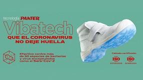 Foto de Vibatech, el tratamiento antiviral y antibacteriano para el calzado efectivo frente al COVID-19 de Panter