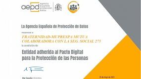 Foto de Fraternidad-Muprespa se adhiere a la iniciativa del Pacto Digital para la Protección de las Personas